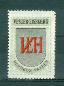 Denmark. Poster Stamp 1940/42. Mnh. District: Vester-Lisberg.Coats Of Arms: