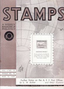 Stamps Weekly Magazine of Philately March 10, 1934 Stamp Collecting Magazine