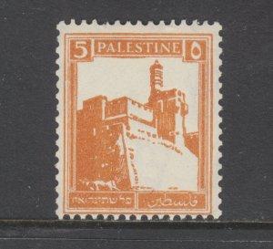 Palestine Sc 67c MNH. 1936 5p brown orange Citadel, perf 14½ x 14 coil, F-VF