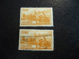 Stamps - Cuba - Scott# E31 -Mint Hinged & Used Single Stamps