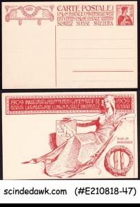 SWITZERLAND - 1909 10c UPU POSTCARD - MINT