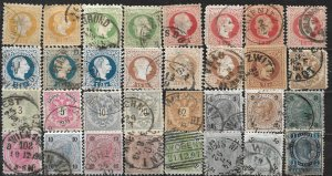 COLLECTION LOT OF 32 AUSTRIA 1867+ STAMPS CLEARANCE CV+$50