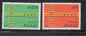 Greece Sc  1029-30 1971  Europa stamp set mint  NH