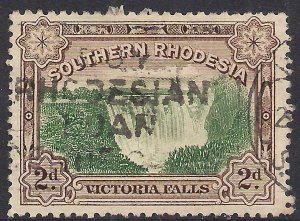 Southern Rhodesia 1932 KGV 2d Victoria falls used SG 29 ( 317 )