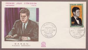 Gabon Airmail John F Kennedy # C27  , JFK  FDC - I Combine S/H