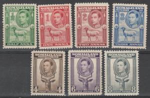 SOMALILAND PROTECTORATE 1938 KGVI SHEEP BUCK 1/2A - 8A
