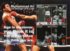 Micronesia Boxing Stamps 2008 MNH Muhammad Ali Famous People Sports 4v M/S I