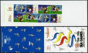 Indonesia 1717-1720a pairs,1720b booklet,MNH. Southeast Asia Games,1997.Discus,