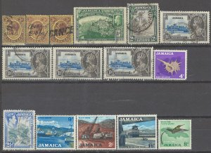 COLLECTION LOT # 2740 JAMAICA 15 STAMPS  1912+ CLEARANCE CV+$27