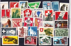 Swiss Military Stamps, Unused, 29 designs (-005)