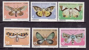 Cuba-Sc#2256-51- id5-unused NH set-Insects-Butterflies-1979-
