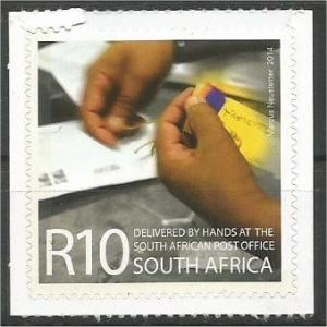 SOUTH AFRICA, 2014, MNH R10, Del.by hands of SAPO Self-adh Scott
