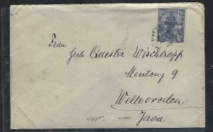 MALTA  (P2808BB) 1928 POSTAGE 2 1/2D COVER TO JAVA