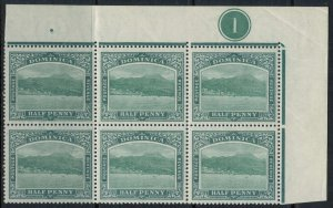 Dominica #25* NH  Plate #1 Block of 6  CV $31.50++