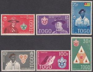 Togo 401-406 MH CV $3.60