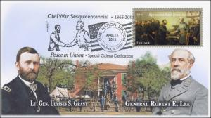 2015, Civil War, Peace in Union, Sesquicentennial, Grant, Lee, 15-096