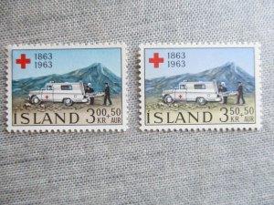 Iceland, Scott#B17-B18, MNH