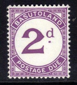 Basutoland 1933 - 52 KGV1 2d Postage Due Umm SG D2a ( G418 )