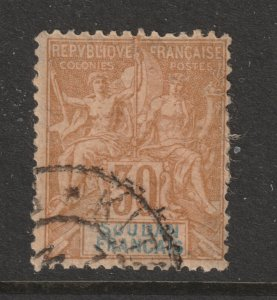 French Sudan a used 30c from 1894