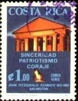 Pres. John Kennedy, Mansion, Grave, Costa Rica SC#C420 used