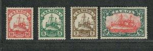 German Dominion Samoa Sc#70-73a M/H/VF, Cv. $44.25