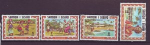 J22103 Jlstamps 1971 samoa set mh #344-7 designs