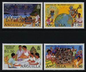 Anguilla 1001-4 MNH Christmas, Ship, Millennium Celebrations