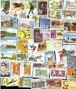 300 All Different NICARAGUA Stamps -  all large