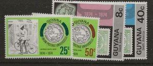 Nickel Auction. Guyana 197-200 nh