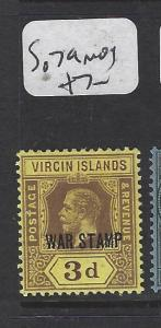 VIRGIN ISLANDS (P2105B) KGV  WAR STAMP 3D  SG 79  MOG