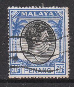 Malaya Penang 1949 Sc 19 50c Used