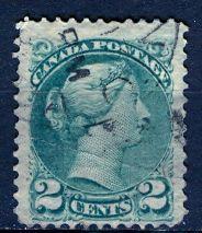 Canada; 1872: Sc. # 36: O/Used Single Stamp