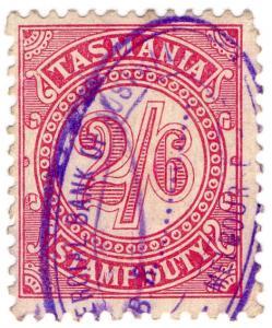 (I.B) Australia - Tasmania Revenue : Stamp Duty 2/6d (1907)