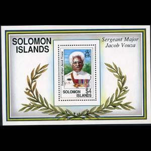 Solomon Islands MNH S/S 722 Sergeant Major Jacob Vouza SCV 9.50