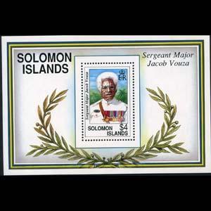 Solomon Islands MNH S/S 722 Sergeant Major Jacob Vouza SCV 9.50