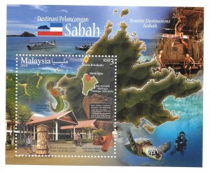 Malaysia 2018 Sabah Tourism Tourist attractions S/S MNH Bo21