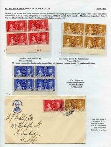 Barbados 1937 Coronation Page