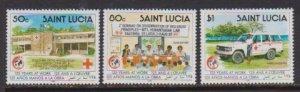 1989 St. Lucia Scott # 946-948 Red Cross MNH