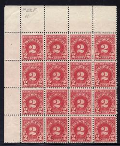 J71 Mint,OG,NH... Block of 16... SCV $136.00