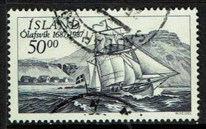 Iceland Scott 637 Used (1987) Sailing Ship