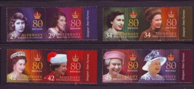 Alderney Sc 269-72 2006 80th birthday QE II stamps mint NH