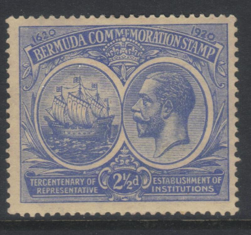 BERMUDA 1920-1921 TERCENT OF PRERESENTATIVE INST (1st ISSUE) SG66 MH CAT £19
