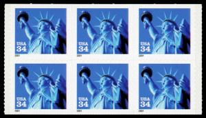 USA 3485d Mint (NH) Booklet Pane of 6