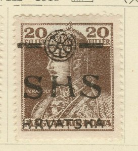 A5P62F107 Yugoslavia Croatia Slavonia 1918 optd 20f mh*