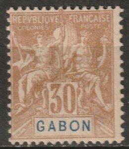 Gabon 1904 Sc 24 Yt 24 MH* partial gum