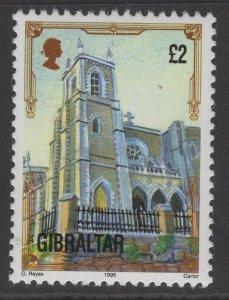 GIBRALTAR SG706a 1993 £2 ARCHITECTURAL HERITAGE MNH