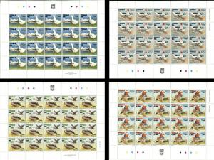 TUVALU Birds 4 Sheets Stamps Postage Collection SPECIMEN MINT NH