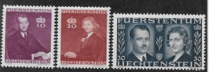 LIECHTENSTEIN SC# 185-87 FVF/MOG 1943