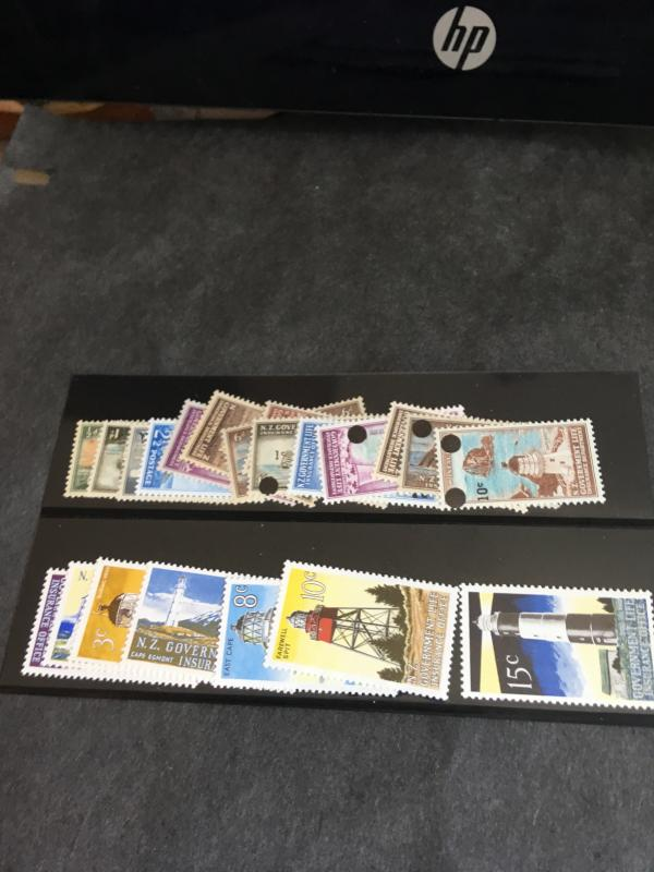 New Zealand 2015 Scott #OY29-OY56 Mint First Lighthouse Set LH O/W NH All F-VF