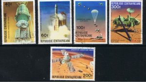 CENTRAL AFRICAN REPUBLIC 1976 VIKING MARS PROJECT
